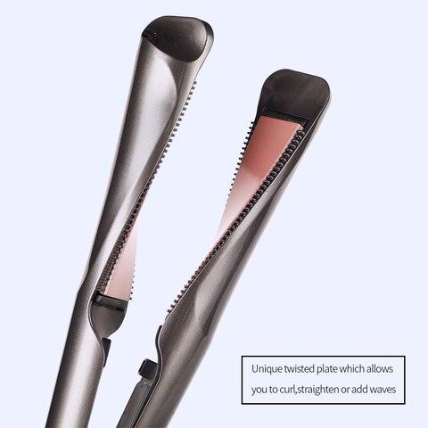 profissional alisador de cabelo torcido placa 2