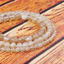 Golden Watermelon Natural Stone Bead Round Loose Spaced Beads 15 Inch Strand 4/6/8/10/12mm For Jewelry Making DIY Bracelet