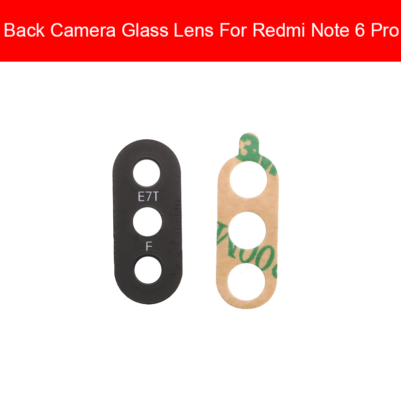 Back Camera Glass Lens Cover For Xiaomi Redmi Note 6 Pro Note6 Note6Pro Rear Camera Glass Lens Repair Replacement Parts