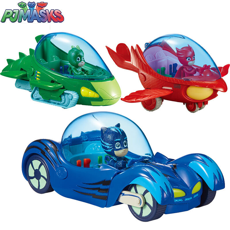 PJ Masks Juguete Luxury Cat Car PJMask Connor Cat Kid Owl Girl Flying Wall Man Anime Figures Toys For Children Birthday Gift