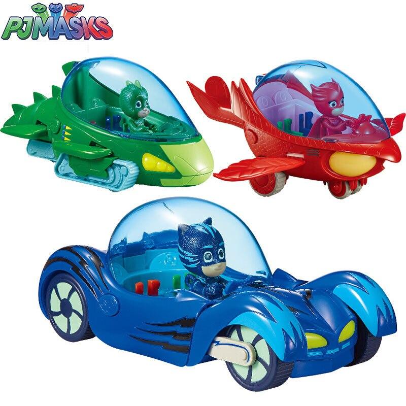 PJ Masks Juguete Luxury Cat Car PJMask Connor Cat Kid Owl Girl Flying Wall Man Anime Figures Toys For Children Birthday Gift