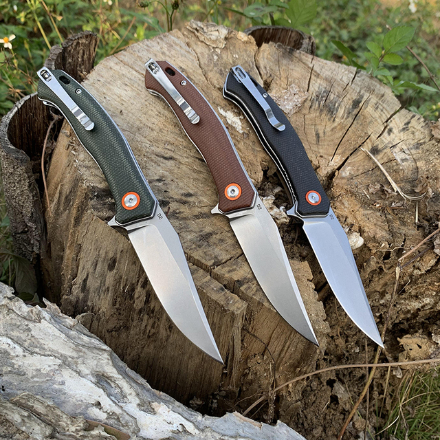 TUNAFIRE Folding Knife  D2 Tactical Outdoor  Stainless Steel Survival Hunting  Fishing Climbing Pocket Knife Fruit Cutter Tools 3