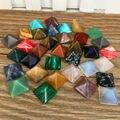 7 шт./лот Пирамида Драгоценный Камень Натуральный Камень Кристалл кварц исцеляющая Точка Чакра