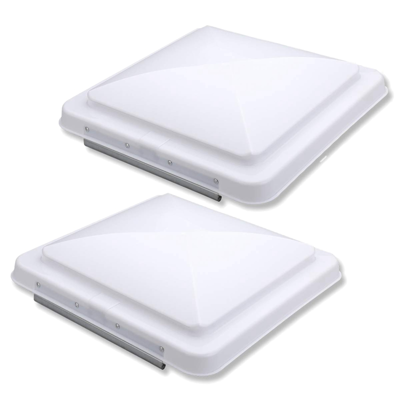 2 Packs Universal Rv Roof Vent Lid Cover Replacement 14 Inch White For Camper Trailer Rv