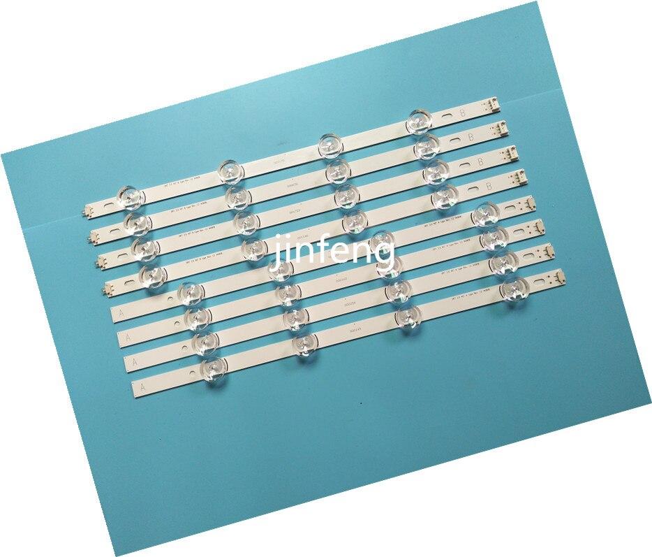 New Kit 8 PCS LED Backlight Strip For LG 40LF630V 40LF570V INNOTEK 40 DRT4.0 DRT 4.0 3.0 40 Inch A B SVL400 6916L-0885A 0884A