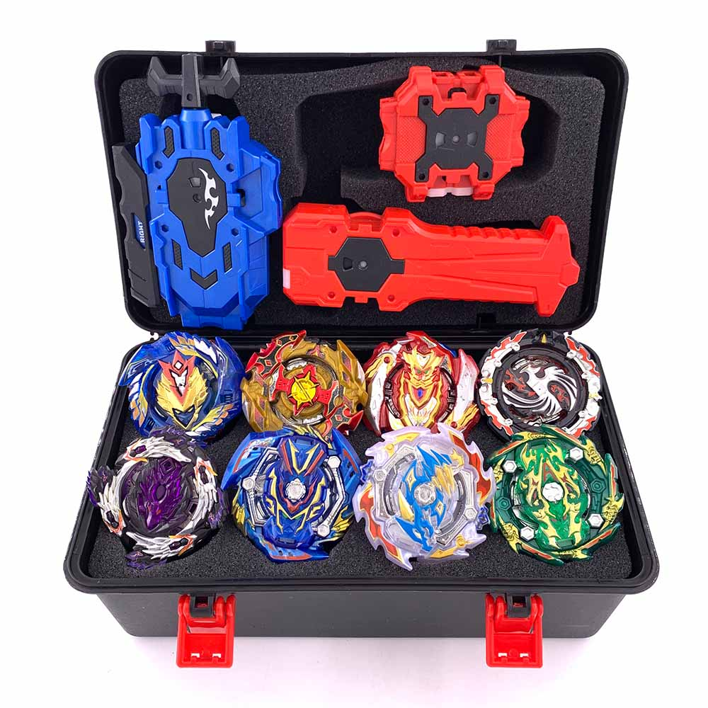 Top Beyblade Burst Bey Blade Toy Metal Funsion Bayblade Set Storage Box With Handle Launcher Plastic Box Toys For Children(China)