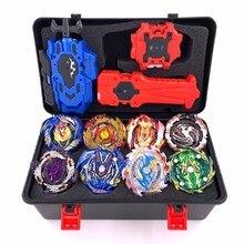 Top Beyblade Burst Bey Blade Toy Metal Funsion Bayblade Set Storage Box With Han