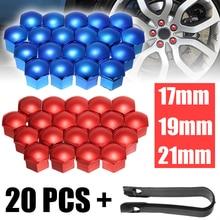 цена на 20Pcs Car Wheel Nut Caps Auto Hub Screw Cover 17/19/21mm Bolt Rims Exterior Decoration Special Socket Protection Dust Proof