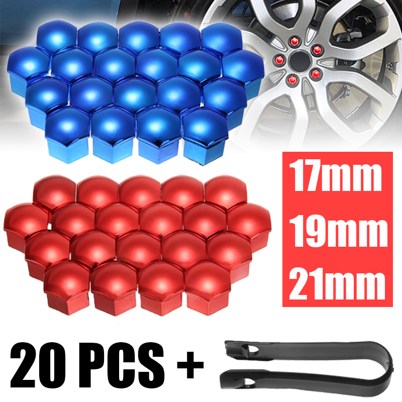 20Pcs <font><b>Car</b></font> <font><b>Wheel</b></font> <font><b>Nut</b></font> <font><b>Caps</b></font> Auto Hub Screw Cover 17/19/21mm Bolt Rims Exterior Decoration Special Socket Protection Dust Proof image