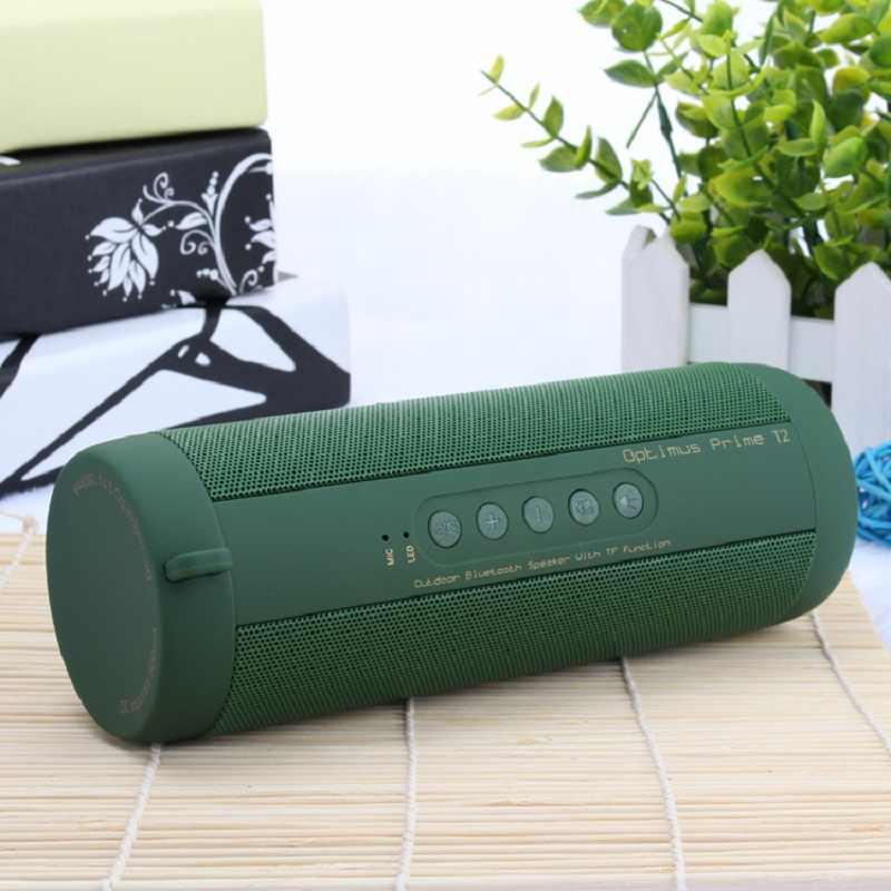 Oryginalny T2 głośnik Bluetooth wodoodporny przenośny głośnik zewnętrzny bezprzewodowy Mini kolumna głośnik box obsługa karty TF fm stereo Hi-Fi pudełka