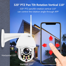 Outdoor Wireless Wifi IP Camera 1080P PTZ  Speed Dome Security Camera Pan Tilt 4X Digital Zoom Network CCTV Surveillance high speed mini 4 inch ptz 480tvl 1 3 sony ccd10x digital zoom 3 9 39mm cctv camera outdoor surveillance dome security