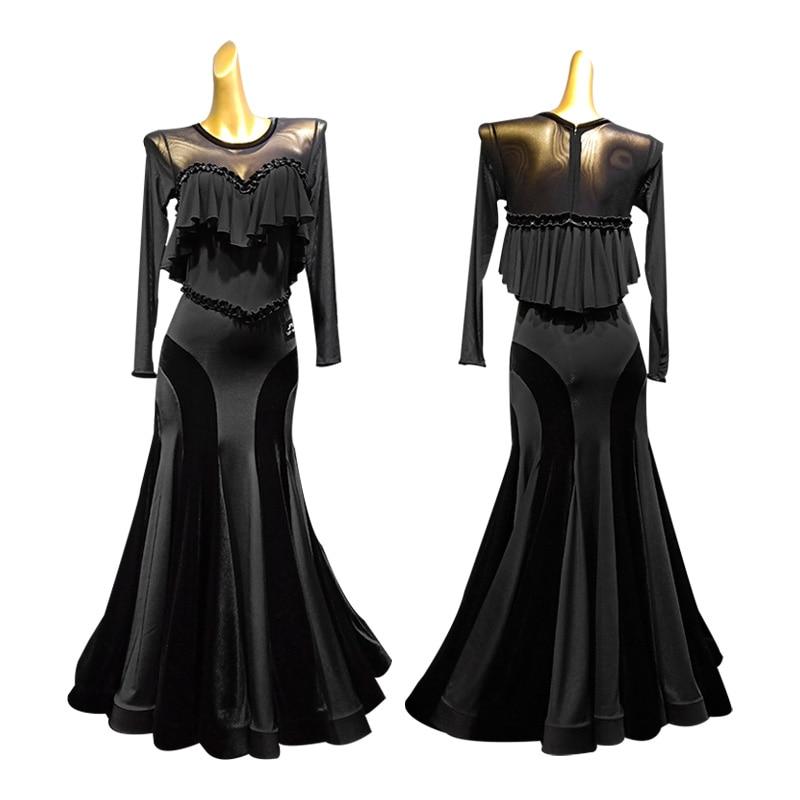 Ballroom Dress Standard Dance Dress Viennese Waltz Dress Waltz Dance Costumes Tango Dress Fringe Tango Costume Foxtrot Dresses