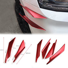 Evo Combate Faca de Ar do carro Universal Frente Car Bumper Spoiler Carro Modificado Deflector de Ar Faca Pp(China)