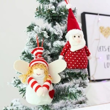Merry Christmas Red Santa Pendant Tree Hanging Ornaments Crafts for Home Decor SupplierCM