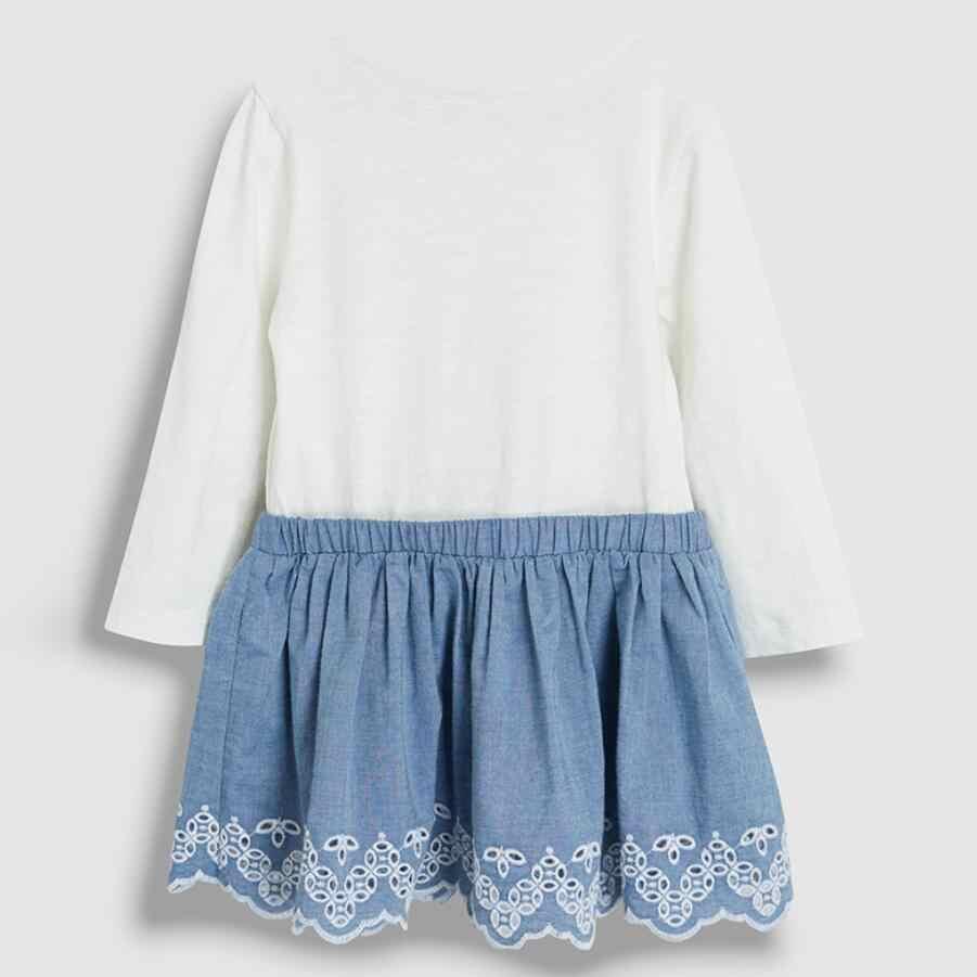 Pouco maven crianças meninas da marca de moda outono bebê meninas roupas algodão da criança menina vestidos flor s0506