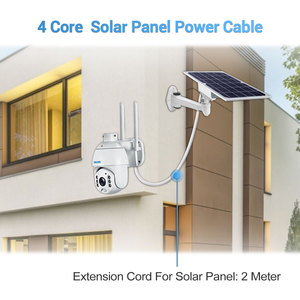 Image 3 - Practical 2M solar panel dedicated extension charging cable and bracket set can be used for QF280 QF480