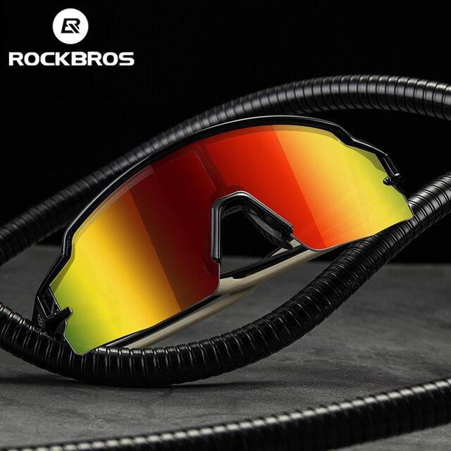 ROCKBROS 사이클링 안경 편광 된 자전거 안경 안경 근시 프레임 UV400 야외 스포츠 선글라스 여자 남자 자전거 고글