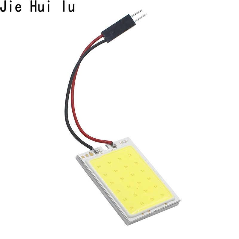 Araba LED T10 Festoon COB W5W C5W T4W LED araç paneli lambaları otomatik İç okuma lambası kubbe ışık DC 12V