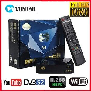 Image 1 - S V6 DVB S2 קולט דיגיטלי לווין מקלט HD תמיכה Xtream נובה 2USB אינטרנט טלוויזיה 3G מודם ביס מפתח DLNA DVB S2 כמו v6s