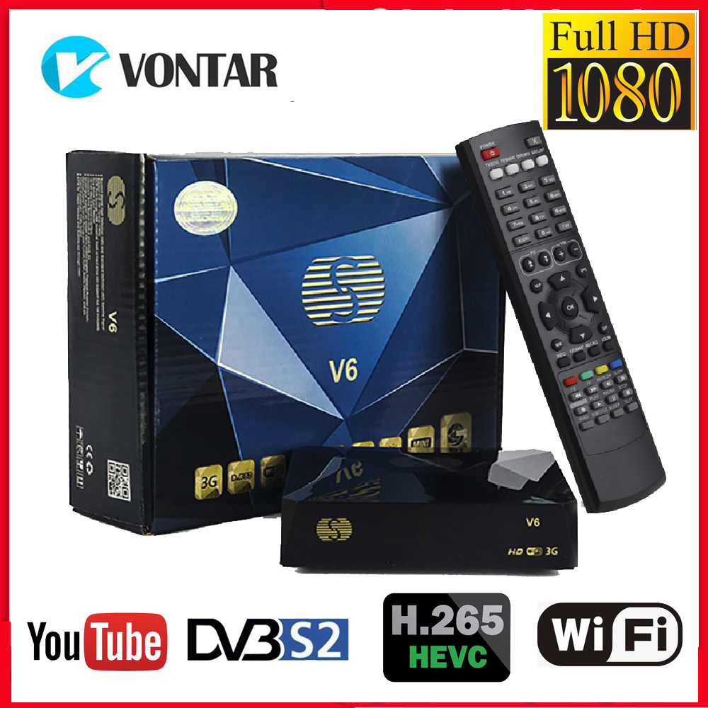S-V6 DVB S2 Receptor Satelite Digital Satellite Receiver HD Support Xtream NOVA 2USB WEB TV 3G Modem Biss Key DLNA DVB-S2 As V6s