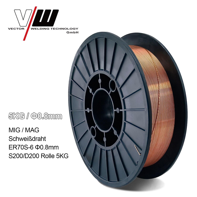 Welding Wire MIG MAG5KG Carbon Steel Gas Shielded Welding Wire Mild Steel ER70S-6   ER50-6 MIG Carbon Steel Welding Wires 0 8m