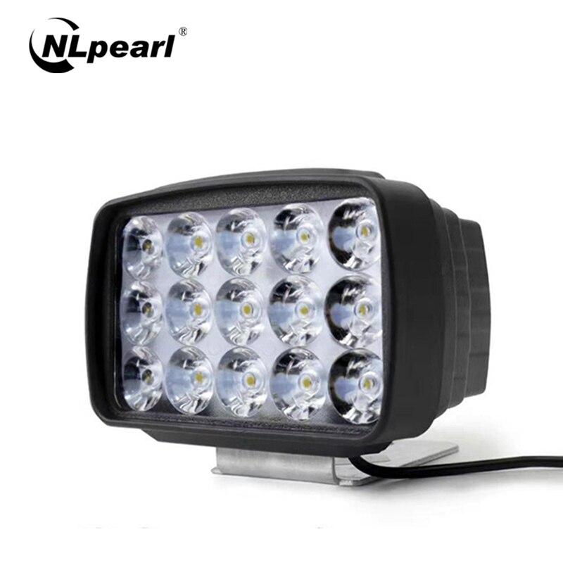 Nlpearl Car Light Assembly White 15 LED DRL Square Daytime Running Light Car Fog Light Driving Lamp for Motorcycle Truck SUV ATV