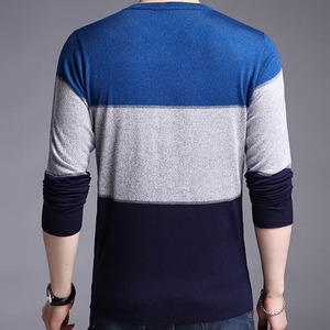 Image 5 - 2020 Brand Male Pullover Sweater Men Knitted Jersey Striped Sweaters Mens Knitwear Clothes Sueter Hombre Camisa Masculina 100