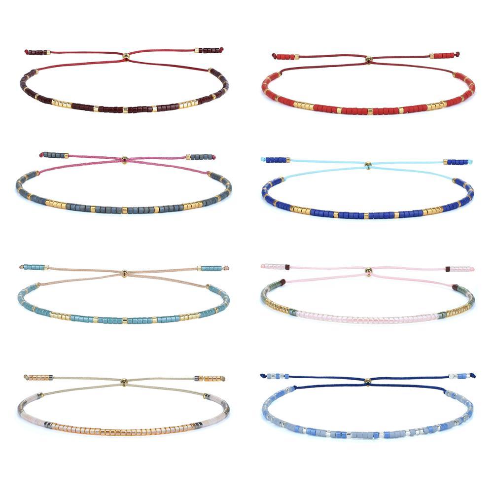 Браслеты с бусинами kelich Miyuki, браслеты ручной работы в стиле бохо, классические браслеты дружбы, женские браслеты с веревкой, ювелирные издел...