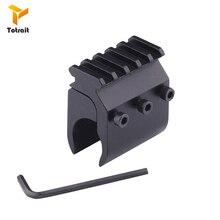 TOtrait Tactical Single Tube Rifle Picatinny Weaver Rail Base Adapter 20mm Rail Mount Gun Scope Converter Laser Sight Flashlight