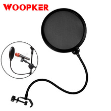 Double Layer Mic Pop Filter Shield Studio Microphone Wind Screen Mask  for Speaking Studio Singing Record