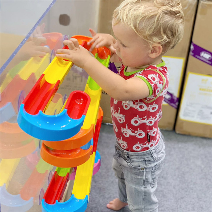 Image 3 - Baby Bath Toys Suction Cup Marble Race Orbits Track Kids Bathroom Bathtub Play Water Toy Shower Games Swimming Pool Tools-in Bath Toy from Toys & Hobbies