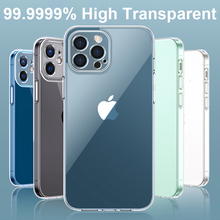 Luxury Tempered Glass Case For Iphone 12 Mini 11 Pro Xs Max X Xr Clear Transparent Hard Case For Iphone Se 2020 7 8 Plus Fundas