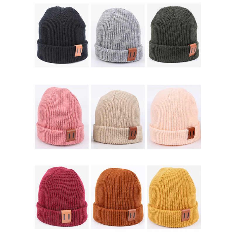 9 สี S/L หมวกเด็กสำหรับ Boy เด็กอบอุ่นฤดูหนาวหมวกเด็กหมวกถักหมวกเด็กสำหรับทารกเด็กทารกหมวกเด็กแรกเกิดหมวก 1PC