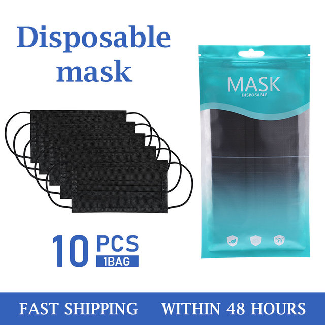 Black/White/Pink Mouth Mask Disposable Cotton Mask Earloop Activated Mask Dropshipping In Stock 1