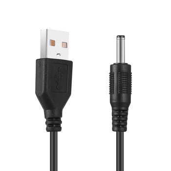 USB 2.0 A TYPE MALE TO 3.5 mm DC Power Plug Stereo Electronics Device Barrel Quick Connector 5V Cable image