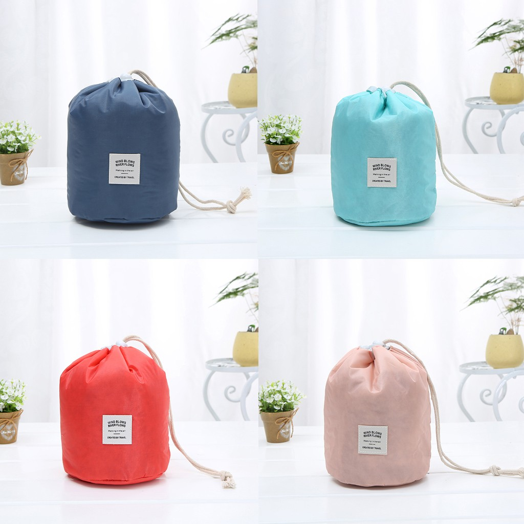 Fashion Simple Style Large Capacity Drawstring Nylon Storage Cosmetic Bag Drawstring Bag Worek Plecak Sznurek Mochila Feminina