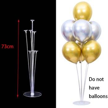 7x Tubes balloon stand birthday balloons arch stick holder wedding decoration baloon globos birthday party decorations kids ball 40