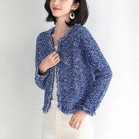 Hot Women Spring Autumn Long Cardigan Sweater Coat Female 2019 Fashion Long Sleeve Crochet Girl Knitted Jacket Tops 0818 120