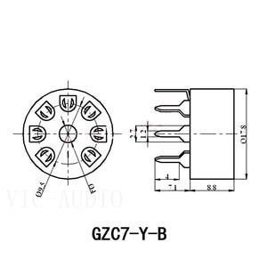Image 5 - 5PCS 세라믹 튜브 소켓 PCB 보드 7 핀 전자 튜브 좌석 EC92 6J1 6J4 6J5 6Z4 6X4 6A2 6H2 1A2 진공관 증폭기 DIY