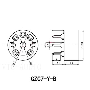 Image 5 - Tubo de cerámica PCB para coche, 5 uds., asiento de tubo electrónico de 7 pines para EC92 6J1 6J4 6J5 6Z4 6X4 6A2 6H2 1A2, amplificador de tubo de vacío DIY