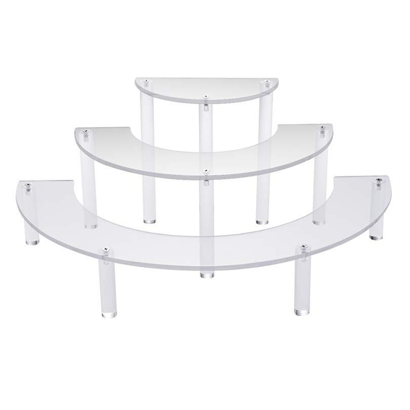 Transparent Removable Acrylic Cake Display Stand For Party Round Cupcake Holder Bakeware Wedding Birthday Party Decoration