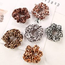 1pcs Leopard Women Hair Accesories Ladies Hair Tie Striped Lady Scrunchies Ponytail Holder Hair Female Girl Holder Rope(China)