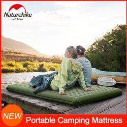 NatureHike nadmuchiwana podkładka do spania dla 2 osób Camping Mat przenośne powietrze materac gruba wodoodporna poduszka do spania  odporna na wilgoć  Pad