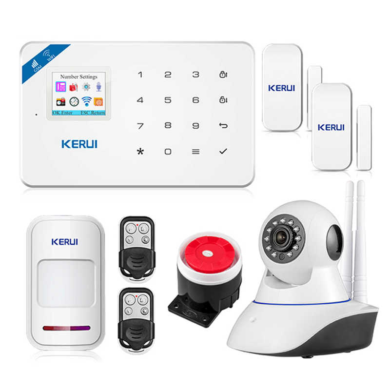 KERUI W18 Android IOS App Wireless GSM Home Alarm System SIM Smart Home Einbrecher Sicherheit wifi IP HD kamera Alarm system