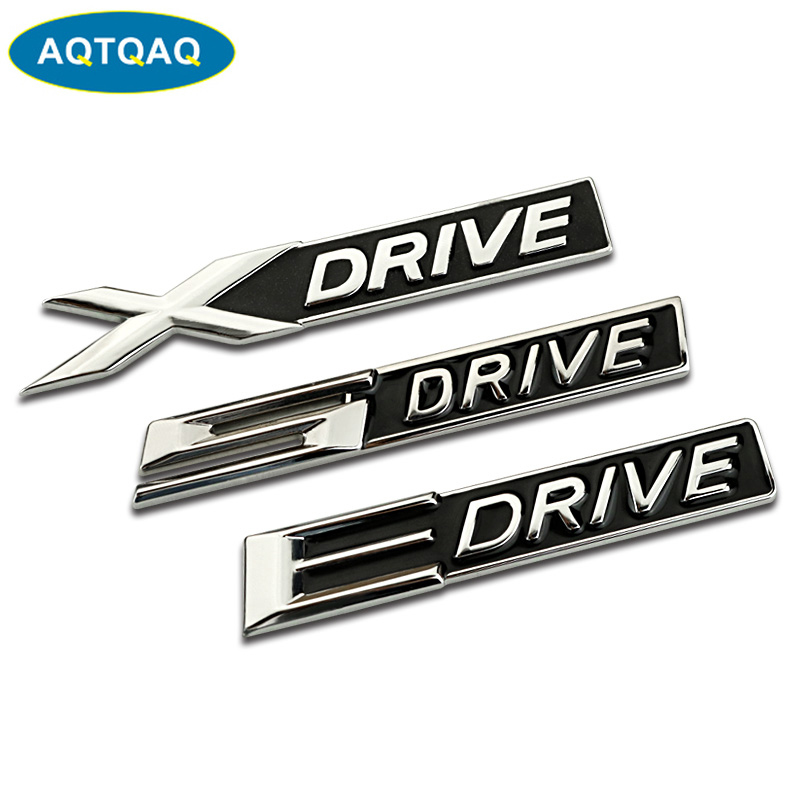 1Pcs 3D Metal X E 5 <font><b>Drive</b></font> Car Side Fender Rear Trunk <font><b>Emblem</b></font> Badge Sticker Decals for JEEP Dodge <font><b>BMW</b></font> Mustang Volvo image