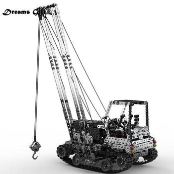 2.4G 10CH RC Crane Children DIY Stainless Steel Assembled Vehicle Metal RC Car Model Assembly Toys for Kids Toys for Childrens