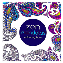 Coloring-Book Zen Adult for Kids DIY Toys School-Craft-Supply 24pages English-Edition