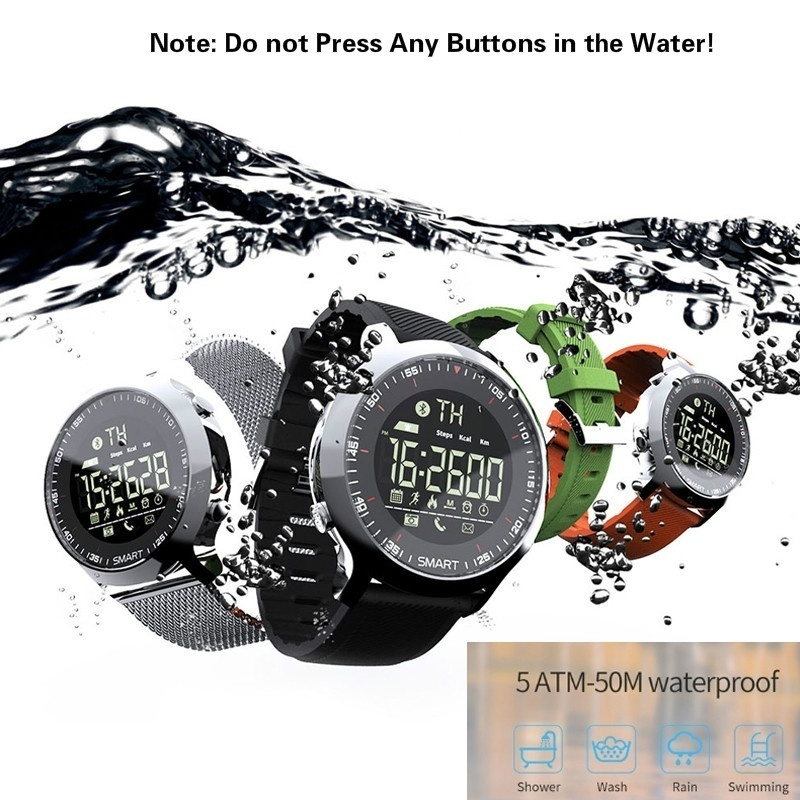 <font><b>Smart</b></font> <font><b>Watch</b></font> <font><b>EX18</b></font> Waterproof 5ATM Pedometer Information Reminder Long Standby Backlit Fitness Tracker <font><b>Watch</b></font> image