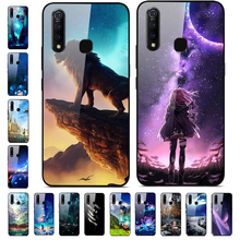 For vivo Z5x Case Phone Cover Tempered Galss Hard Back