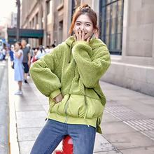 Women Fashion Sweet Patchwork Hooded Coat Wool Casual Solid Simple Jacket Autumn Spring  New